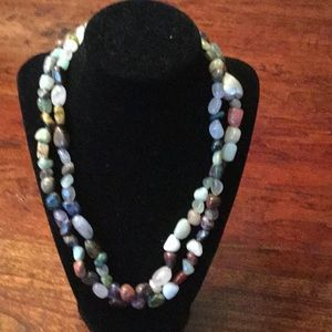 Gorgeous handmade multi color flexible necklace